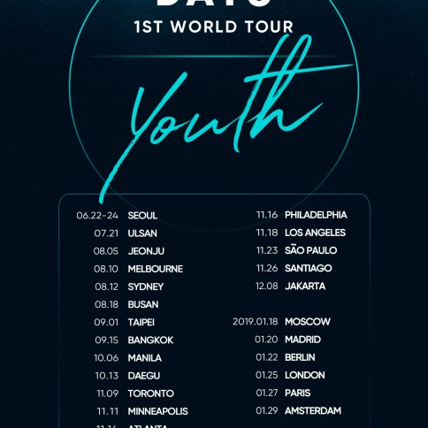 DAY6_1st tour_schedule poster